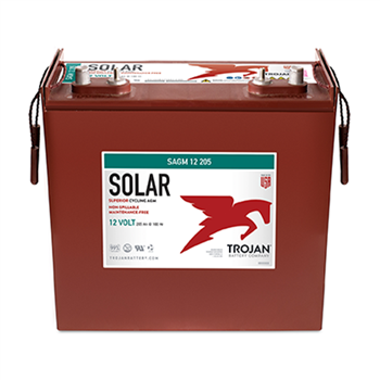 Trojan SAGM-12-205 205Ah 12VDC Deep-Cycle Solar AGM Battery