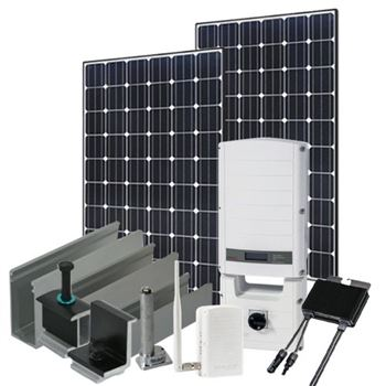 2280 Watt (2kW) SolarEdge Optimizer Kit (Mono Panels)