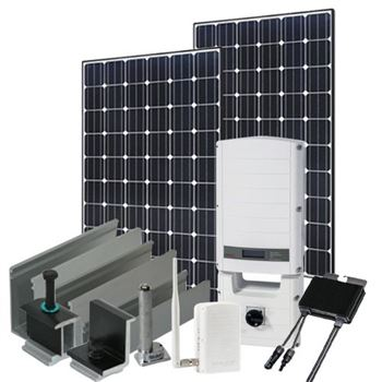3705 Watt (3.7kW) SolarEdge Optimizer Kit (Mono Panels)