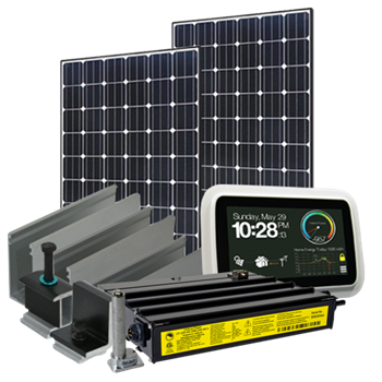 3705 Watt (3.7kW) Solar Microinverter Kit (Mono Panels)
