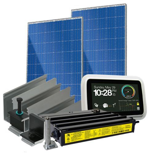 8960 Watt (8.9kW) Solar Microinverter Kit (Poly Panels)