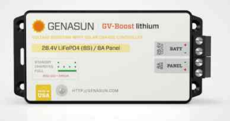 Genasun SLC-GVB-8-Pb-24V > 8A/24V MPPT Boost Controller Lead Acid Battery