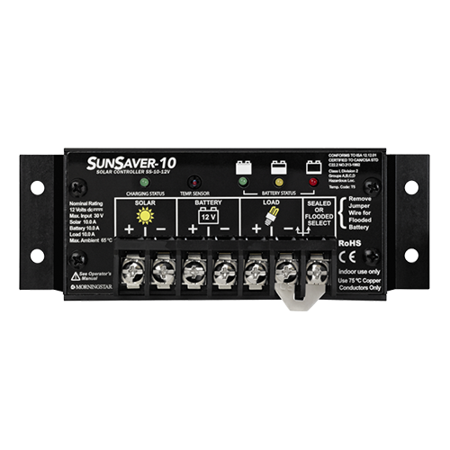 Morningstar SunSaver SS-10-12V >  10 Amp (12V)  Charge Controller