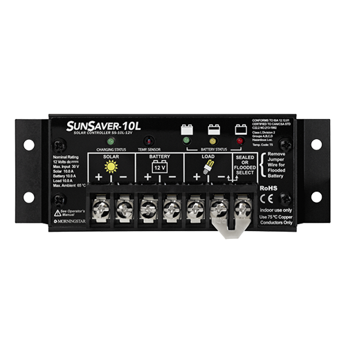 Morningstar SunSaver SS-10L-12V w/ Low Voltage Disconnect (LVD) >  10 Amp (12V) Charge Controller
