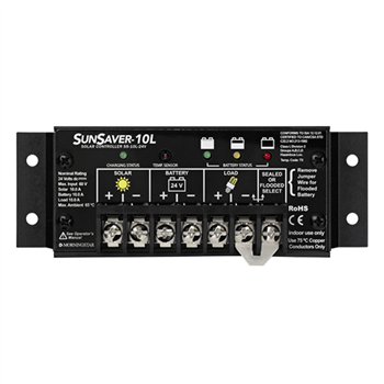 Morningstar SunSaver SS-10L-24V w/ Low Voltage Disconnect (LVD) >  10 Amp (24V) Charge Controller