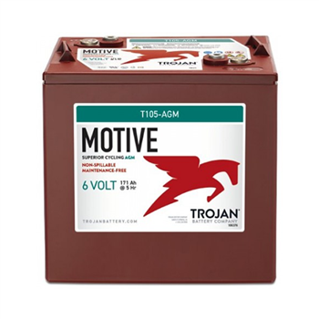 Trojan Motive T105-AGM 217Ah 6VDC Group GC2 Deep-Cycle AGM Battery