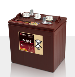 Trojan T125 > 6V, 266Ah, Signature Line Deep-Cycle Flooded Battery