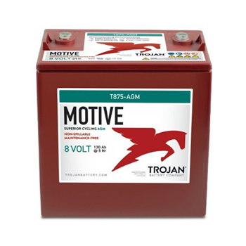 Trojan Motive T875-AGM 160Ah 8VDC Group GC8 Deep-Cycle AGM Battery