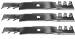"SET OF 3 AYP 16-5/8""X5 POINT STAR COMM MULCHING BLADES"
