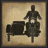 Motorcycle - Canvas + Framed Wall Art