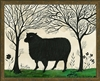 Luxury Designer Spicher & Company Animal Silhouette Sheep Art Print