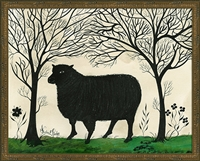 Animal Silhouette Sheep Art Print (size options)