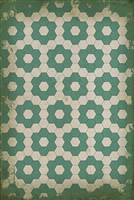 Spicher & Company Pattern 02 Water Lilies Vinyl Floorcloth | BSEID