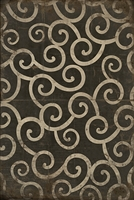 Pattern 04 It was a Dark and Stormy Night Vinyl Floorcloth