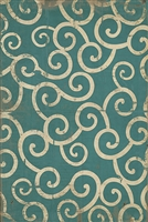 Surf Inspired Spicher & Co. Pattern 04 20,000 Leagues Vinyl Floorcloth