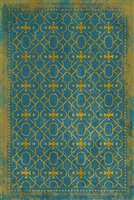Spicher & Company Pattern 05 Drookit Vinyl Floorcloth - USA-Made Rug | BSEID