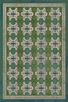 Designer Spicher & Company Pattern 05 Mrs Peacock Vinyl Floorcloth | BSEID