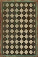 Spicher & Company Pattern 09 Checkmate Vinyl Floorcloth - USA-Made Rug | BSEID