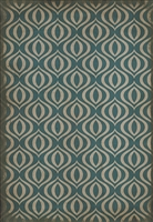 Spicher & Company Pattern 15 Lithium Vinyl Floorcloth - USA-Made Rug | BSEID