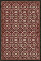Spicher & Company Pattern 21 The Red Queen Vinyl Floorcloth | BSEID
