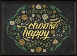 Choose Happy Art Print - Thoughtful Gifts for Grads