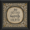 happily ever after framed wall art