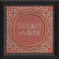 little bitty pretty one pink orange framed wall art