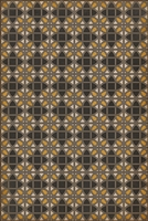 vinyl floor mat lattice tile pattern black orange tan