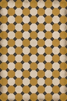 vinyl floor mat octagons tan black cream