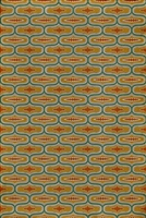 vinyl floor mat line pattern teal orange red