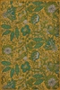 vinyl floor mat rug runner cloth vintage flowers yellow aqua teal green
