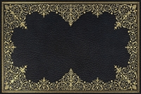 rectangle vinyl desk mat black gold lace-like