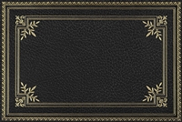 rectangle vinyl desk mat black gold desk pad