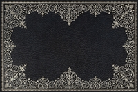 rectangle vinyl desk mat black silver lace-like