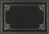 rectangle vinyl placemat black gold frame