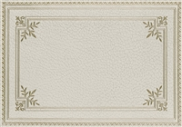 rectangle vinyl placemat off-white ivory gold frame