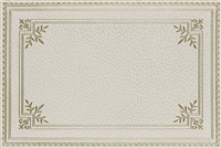 rectangle vinyl mat crackled ivory gold