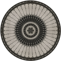 vinyl floor mat round tile pattern black gray