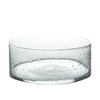 seeded glass clear salad bowl contemporary