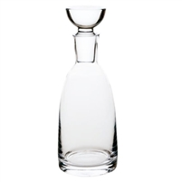 decanter glass flat top stopper clear bar accessories