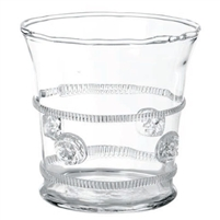 crystal rope detail medallion ice bucket glass
