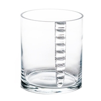 clear glass ice bucket round decorative barware