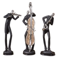 musician figurine set chestnut brown base