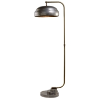antique brass gray gunmetal floor lamp industrial