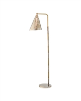 finish metal task lamp antique silver patina brass