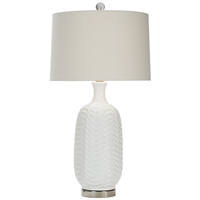 ceramic table lamp wave pattern custom
