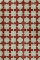 Spicher & Company Pattern 23 Dressed in Scarlet Vinyl Floorcloth