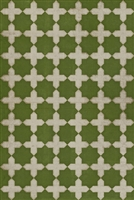 Spicher & Company Pattern 23 Nor Any Green Thing Vinyl Floorcloth