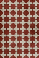 Pattern 23 Red Like Crimson Vinyl Floorcloth