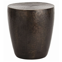 drum shade table bronze side table